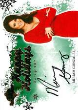 Miriam Gonzalez 2012 Bench Warmer Holiday Autograph Auto Green Background SP