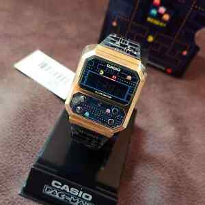 Casio Vintage A100WEPC-1B A100WEPC Pac-Man Brand New Rare