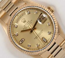Rolex Men Day-Date 18238 President 18k Gold 36mm-Champagne Baguette Diamond Dial