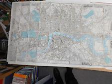 100% originale grande scala piano di Londra Mappa da Wyld C1861 scarse