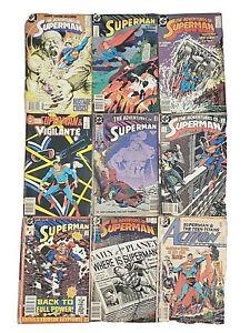 Superman Comic Book Lot #57 75 443 454 480 Annual 10 DC Comics Vintage Retro OLD