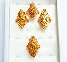 4Pc Ring Set Designer Indian Ethnic 18k Gold Plated Finger Rings Wedding Jewelry