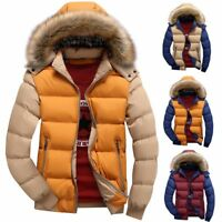 Winter Men's Jacket Cotton Coat Thicken Warm Outwear Parka Hooded Fur Collar