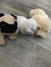 New ListingWebkinz Signature Golden Retriever Puppy Pug Dog Seal lot of 3