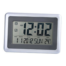 Large Display LCD Digital Table Alarm Clock with Time Date Temperature