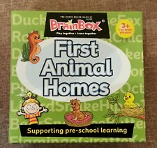BrainBox First Animal Homes Educational Card Game Supporting Pre-school Children