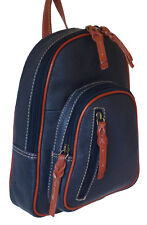 Over 30% Off Rowallan Navy Leather Backpack