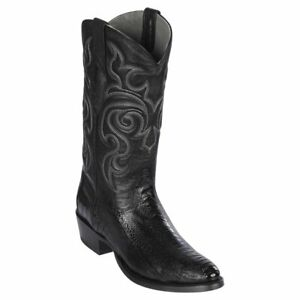 Men's Los Altos Genuine Ostrich Leg Western Boots Round Toe D Width