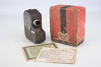 Univex Exposition Model C-8 8mm Cine Movie Camera with f/2.7 Lens & Box V12