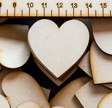 4cm / 40mm MDF VALENTINE HEARTS x 50 LASER CUT WOODEN SHAPE Craft Art Decoration
