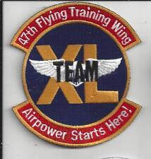 "PATCH USAF 47TH FLYING TRAINING WING TEAM XL          4"""
