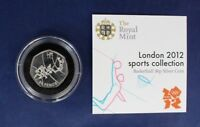 "2011 Silver 50p coin ""Olympics - Basketball"" in Capsule with COA   (K2/20)"