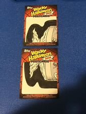 2010 TOPPS WACKY PACKAGES HALLOWEEN POSTCARD PUZZLE SKETCH LOT NEIL CAMERA RARE
