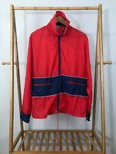VTG Jog-Joy Men's Full Zip Nylon Track Windbreaker Parka Jacket Size L