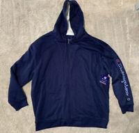 Champion Authentic Athleticwear Full Zip Fleece Jacket Color Blue Men's Size 3XL