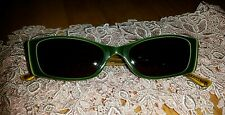 Judith Leiber Sunglasses green with Swarovski Crystals gc md in France 50/18/140