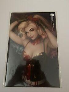 Harley Quinn #1 Warren Louw Minimal Virgin Variant Cover 1st Print DC Comics 1