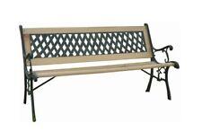 2 posti da esterno in ghisa panchina da giardino in legno per sedia mobili da giardino Nuovo
