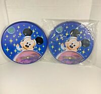(2) 2003 Disney World Epcot Mission Space Frisbee Disc Astronaut Mickey Kelloggs