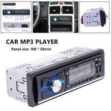 12V Dual USB 1DIN Bluetooth AUX Car Stereo MP3 Radio Support RDS Compatible DAB