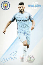 New SERGIO AGUERO Signature Series Manchester City 2016/17 EPL Soccer POSTER