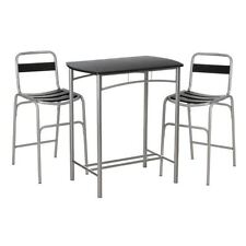 Kitchen Fixed Modern 3 Piece Table & Chair Sets
