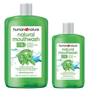 Human Nature Natural Mouthwash 99.8% Natural | Alcohol-free 400 ml