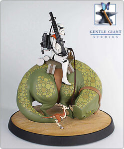 GENTLE GIANT STAR WARS ANIMATED SANDTROOPER ON DEWBACK NEW SEALED VERY RARE #14