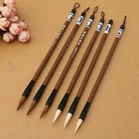 6x New Chinese Japanese Water Ink Painting Writing Calligraphy Brush Pen Set