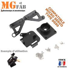Support kit PAN TILT noir avec visserie pour micro servo SG90 | Arduino bracket