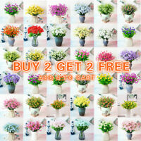 US Artificial Flowers Fake Plant Outdoor Floral Greenery Grass BUY 2 GET 2 FREE