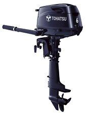NEW!! TOHATSU 6HP Long Shaft Manual Start & Tiller Control 4-Stroke Outboard