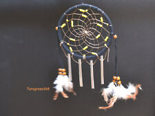 Dream Catcher Feathers For Car/Wall Hanging Decorations 4 WIND BELLS BLACK