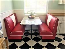 New 57 Chevy V Back Diner Booth Set Restaurant Cafe
