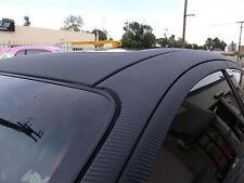 NEGRO FIBRA DE CARBONO 3d Pegatina LÁMINA DE VINILO - Sin Aire Burbuja - coches