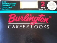 New Wave 90s Burlington Career Looks Tummy Control Top Pantyhose Retro Tights 2