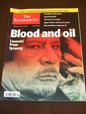 THE ECONOMIST - BLOOD AND OIL - Feb 26 2011 Vol 398 # 8722