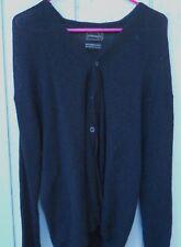 Vintage Men'S '70'S Cardigan Black Alpaca Men'S Sweater Sz Large By Jc Penney'S