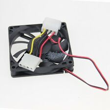1Pcs 12V Molex 4Pin 80mm 80x80x15mm 8cm Brushless DC Cooling Computer Case Fan