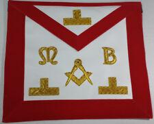 Masonic Regalia Hand Embroided Bullion & Wire Made Master Mason Red Apron