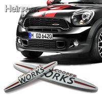 Auto Front Grill Metal Emblem Abzeichen Aufkleber Logo für MINI JOHN COOPER WORK
