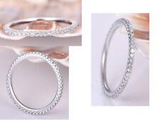0.96Ct White Round Diamond Full Eternity Wedding Band In 14K White Gold Finish