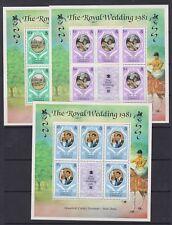 1981 Royal Wedding Charles & Diana MNH Stamp Sheetlets Sheets Dominica