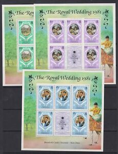 1981 Royal Wedding Charles & Diana MNH Stamp Sheetlets Sheets Dominica