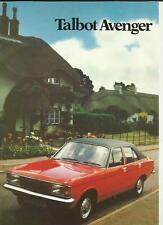 TALBOT AVENGER  SALES BROCHURE OCTOBER 1979 FOR 1980  MODEL YEAR
