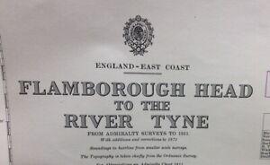 ADMIRALTY SEA CHART. FLAMBOROUGH to RIVER TYNE.No. 1191. ENGLAND EAST COAST.1953
