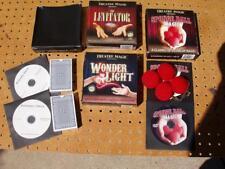 5 THEATRE MAGIC DVD GIMMICK TRICKS WONDER LIGHT LEVITATOR SVENGALI WIZARD DECK +