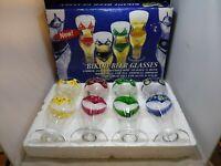 New In Box 4 Bikini Beer Glasses