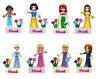 Disney Snow White Mermaid Belle 8 Princess Mini Figures fits with Lego party bag