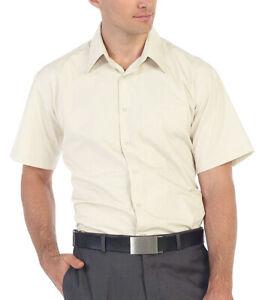 Men's Classic Fit Button Down Designer Short Sleeve Dress Shirts 29 Colors S-5XL